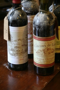 Bottles of old wine