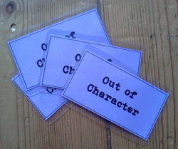 Out of Character cards for personal, OOC belongings